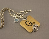 Choice Scrabble Letter Necklace-A B C D E F G H I L NO P Q R S T U V W X Y Z Scrabble Tiles-Scrabble Tile Pendant-Birthstone Tile Necklace