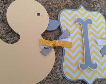 Custom Rubber Ducky Name Banner OR It's A Boy banner