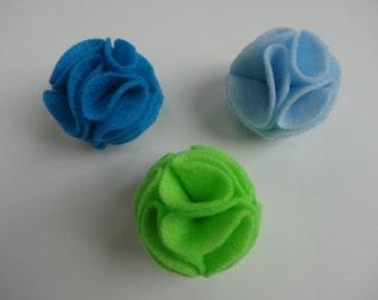 Felt Blossom Cat Toy Ball- Set of 3