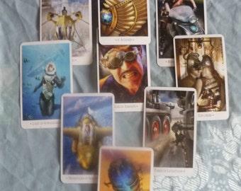 Steampunk Tarot Card Reading  The Cosmic Blueprint 9 Cards