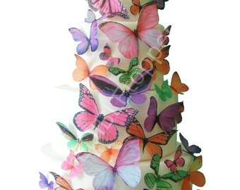 Wedding Cake Topper - THE KAITLYN Edible Butterflies -  Butterfly Cake Decorations, Cake Decorating, Cake Decorations
