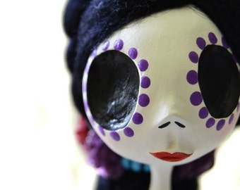 Day of the Dead -  Day of the Dead Doll -Dia de los muertos - Art Doll - Made To Order