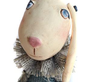 Easter Decor - Spring Decor - Bunny Art Doll - Bunny Cloth Doll - Made To Order