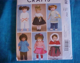 McCalls 6006 Crafts American Girl Pattern .