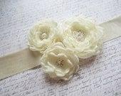 Bridal Sash, Ivory Bridal Sash, Wedding Belt, Bridal Belt, Made in Sweden, Swedish Design, Swedish Wedding, Flower Sash