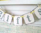 GIFTS or CARDS Wedding Banner Great for Bridal Showers Graduations or a Birthday Party Can Be Custom Made in Your Event Color Scheme