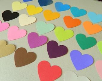 HEART confetti / Gift Bag Tags  / Wedding Decorations / Wishing Tree Tags/ Escort cards / Bridal Shower Decor / wedding aisle decor