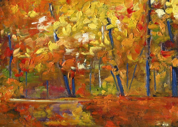 A Day for Raisin Sandwiches - Original Oil Painting Landscape Painting by Seminary Road Artists