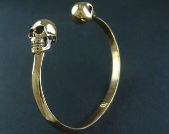 Skull Cuff Bracelet - Bronze Human Skull Cuff Bracelet - Bronze Skull Bracelet