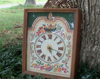 Clock Handstitched Case Clock Historic Handmade Reproduction Estate Heirloom by AntiquesandVaria