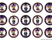 """15 Witches and Wizards Halloween Digital Download for 1"""" Bottle Caps (4x6)"""