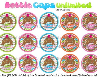 """15 Little Cupcake Download for 1"""" Bottle Caps (4x6)"""