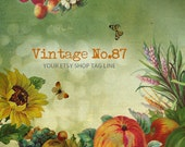 Vintage Shop Banner - Retro Autumn Etsy Shop Banner Set