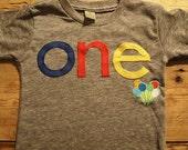 balloon shirt lowercase Primary Colors Birthday Tee Organic Shirt Blend first birthday shirt photo prop