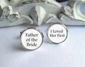 Cufflinks, Father Of The Bride Cufflinks, Wedding Cufflinks