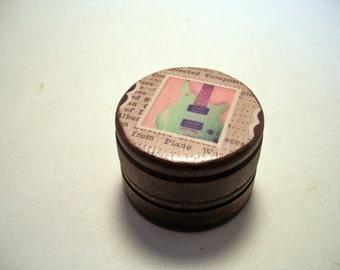 Guitar Pill Box Decoupage