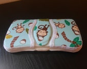 Baby Wipes Case Travel Size Monkey Palm Tree Coconut Fabric