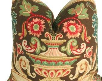 SALE. Schumacher Fontenay Vase Floral Decorative Pillow Covers Square, Lumbar or Euro Sham, Throw Pillow, Accent Pillow, Toss Pillow