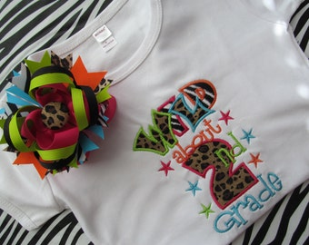 WILD About Preschool-5th Grade Shirt and Matching Bow