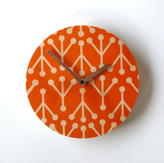 Objectify Retro Coral Wall Clock