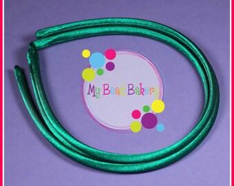 Set of 3 Mallard Green 8mm Satin Headband Blanks DIY Crafts