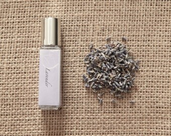 Lavender Perfume Oil - Fresh, Floral - Roll On Perfume - Aromatherapy - 8mL