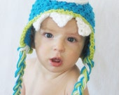 CROCHET PATTERN Monster Earflap Hat (5 sizes included from newborn-adult) Intant Download