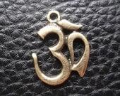3 pcs Vintage Om pendant on Hindu God Accessories /Talismans/diy./necklace/summer hobby/talisman/trust/believe/ohm pendant/yoga/boho/namaste