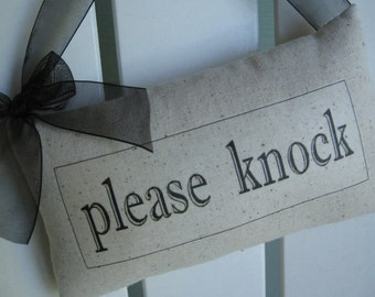 Reversible, Please Knock, In Session, Quiet, Do Not Disturb, OPEN, CLOSED Door Sign, Shop Accessories, Business, Cafe, Gift Shop, Retail