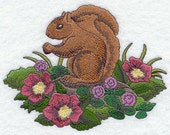 Park Place Squirrel Embroidered Flour Sack Hand/Dish Towel