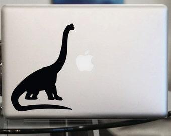 Apatosaurus Brontosaurus  Decal -  Dinosaur Vinyl Decal for Laptop, Car