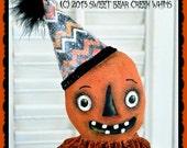 Primitive Pumpkin, Make-Do Pattern, Halloween, PDF, Candy Corn Pattern, Fall, Cloth doll pattern, Digital download pattern, Sewing pattern