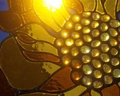 Stained Glass Window Leaded Glass Panel sunny sunflower sunshine Mother's Day