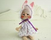 Vintage Annalee Rabbit - Annalee 1990's Collectible - 1990's Collectible Annalee - Collectible Rabbit - Vintage Bunny Rabbit made in U.S.A.