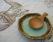 Thrown Small Plate - Brown and Light Blue