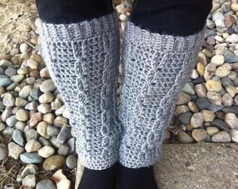 Cable Crochet Leg Warmers (Pattern)