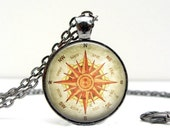 TRAVELER GIFT -  Compass Necklace - Gifts for Her - Compass Gift - Compass Pendant Necklace - North South East West - Gifts for Travelers