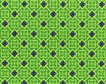 Folk Modern - Tile green - JG-41600-1A by Ellen Luckett Baker from Kokka Fabrics
