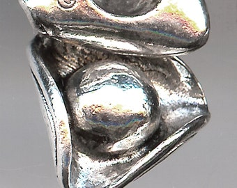 TRICORN Charm. Sterling Silver Plated Pewter. 3D Pirate Hat. Pilgrim. Colonist. Made in the USA.