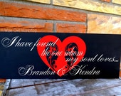 "Personalized ""I have found the one whom my soul loves..."" song of solomon 3:4 7.5x19"" sign in your choice of colors"