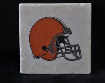 Cleveland Browns Coasters Set of 4 hadcrafted