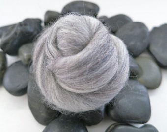 Gray Merino Wool Roving By The Pound, wool roving, spinning wool, needle felting wool, nuno felting wool, gray merino wool, felting wool