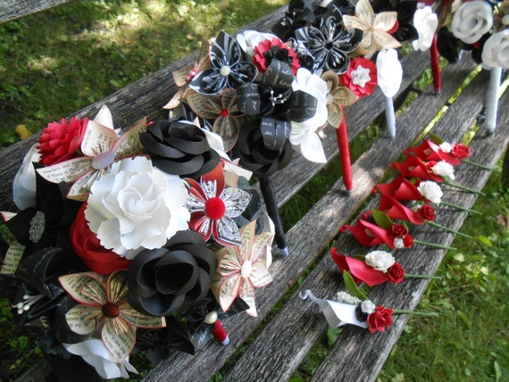 CUSTOM Wedding Paper Flower Bouquets. You Choose The Colors, Theme, Etc.  Custom Orders Welcome.