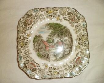 Johnson Bros England Mill Stream Pattern Porcelain Plate
