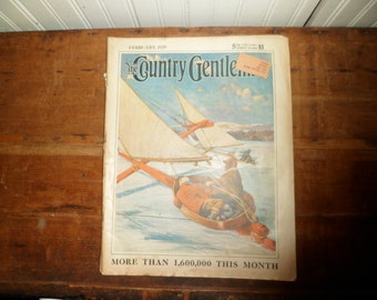 The Country Gentleman Magazine 1929 Art Deco Illustrations and Car Adverts