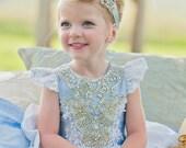 Cinderella costume, Blue Princess, Halloween Costume, Child's Princess Costume, Birthday Dress