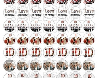 I love One Direction 1D 1 Inch Circle Digital Collage Sheet
