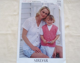 SIRDAR Crochet Pattern Leaflet Issue 5538 Silky Look Double Knitting.