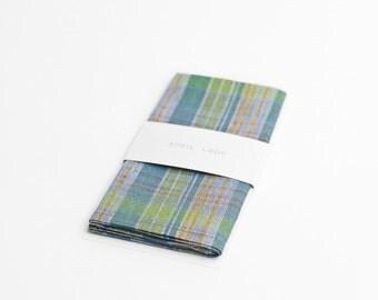 Green plaid pocket square