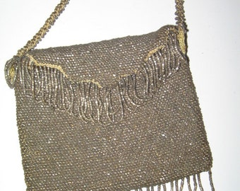 VINTAGE BEADED BAG Flapper Purse 1920's Art Deco Style